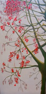 Flame Tree, 2009. Acrylic on canvas, 91 x 61cm.
