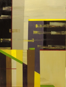 Abstraction in Space 4, 2014. Acrylic on canvas board, 40 x 30cm.