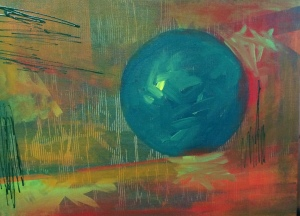 Ball, 2014. Acrylic on canvas, 46 x 61cm