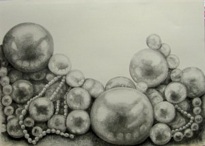 Pearls, 2013. Charcoal on paper. Sold.