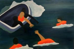 Save. 2015. Acrylic on canvas, 91 x 61cm.
