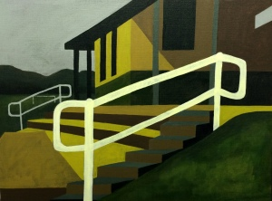 Railing. 2015. Acrylic on canvas, 61 x 50cm.